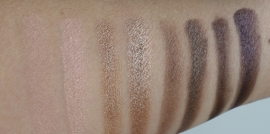 (L to R) Europa, Himalia, Ursa Major and Subra swatched dry then wet